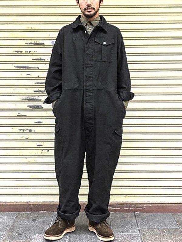 Men's Workwear Jumpsuit - Black L
