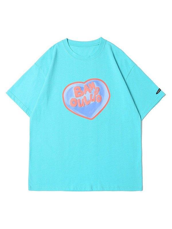 Men's Speechless Love Graphic Tee - Blue L