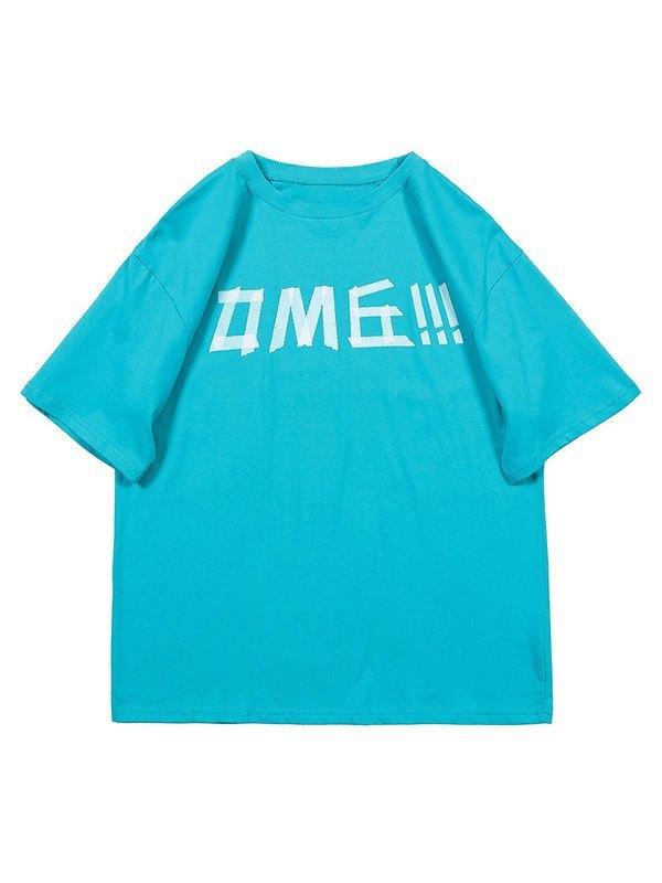 Men's Combine Letter Graphic Tee - Blue M